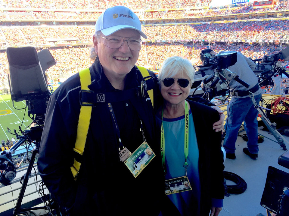 Photo -  Bobby and Kennie Smith pose during Super Bowl 50 in Santa Clara, California. [PHOTO PROVIDED]