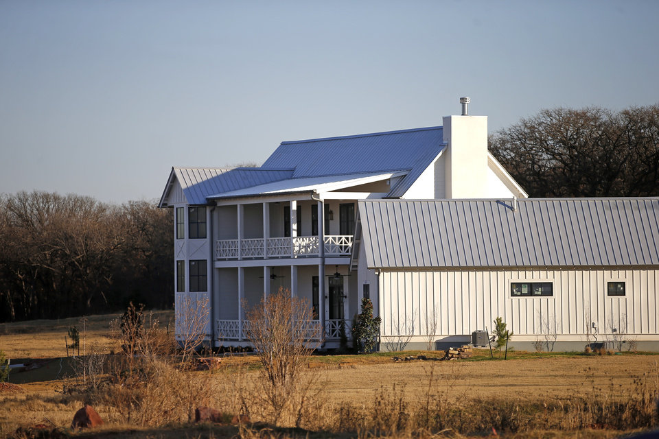 Photo -  This home is under construction at The Prairie at Post addition in Edmond. [PHOTO BY BRYAN TERRY, THE OKLAHOMAN]