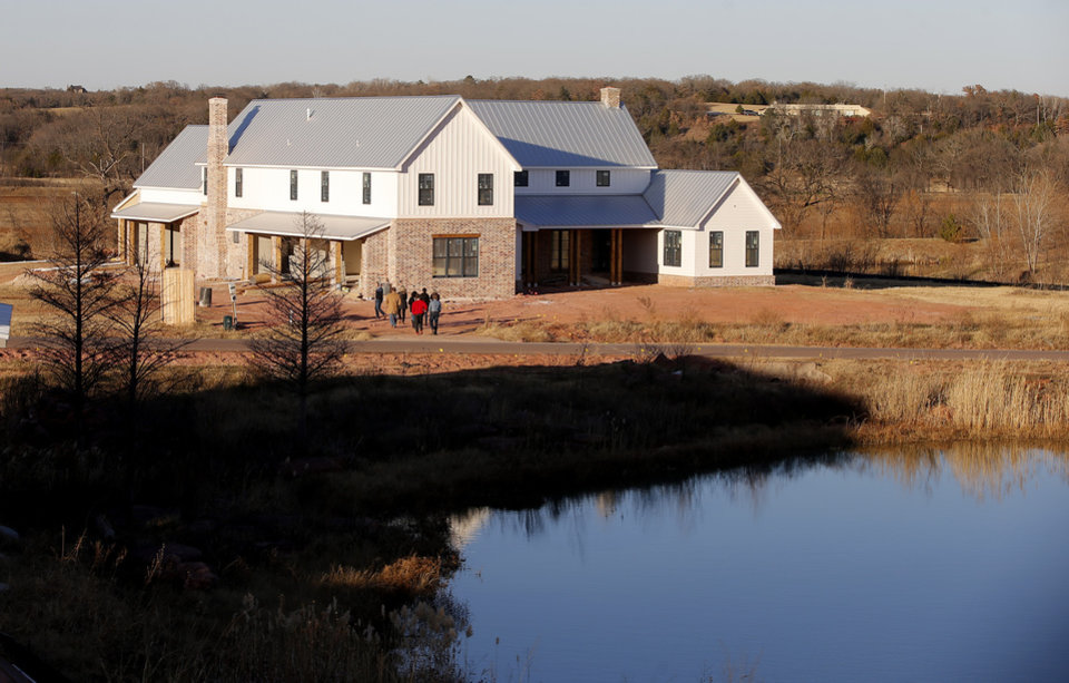 Photo -  This is a house at The Prairie at Post addition. [PHOTO BY BRYAN TERRY, THE OKLAHOMAN]