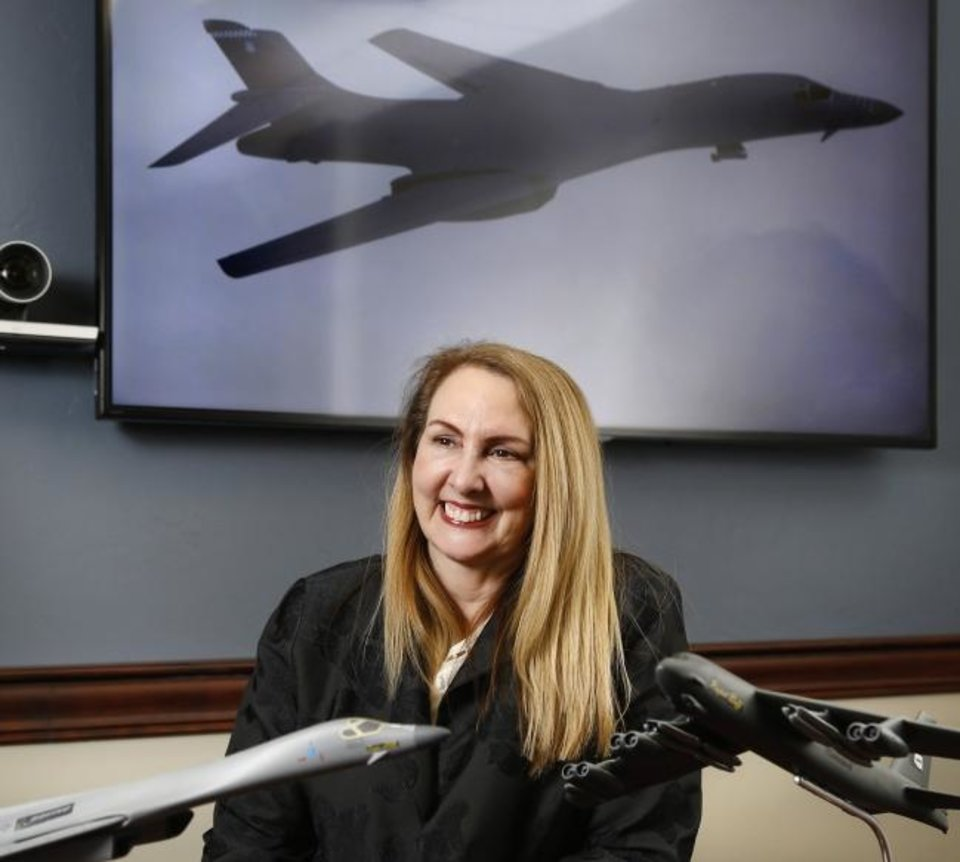 Photo -  Nancy R. Anderson, Boeing's vice president for aircraft modernization and modification, came to Oklahoma City 22 years ago as an engineer who supported programming for the company's B-1 bomber. [Jim Beckel/The Oklahoman]
