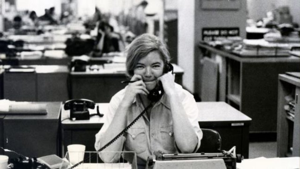 Photo -  Texas political commentator Molly Ivins is seen in the documentary