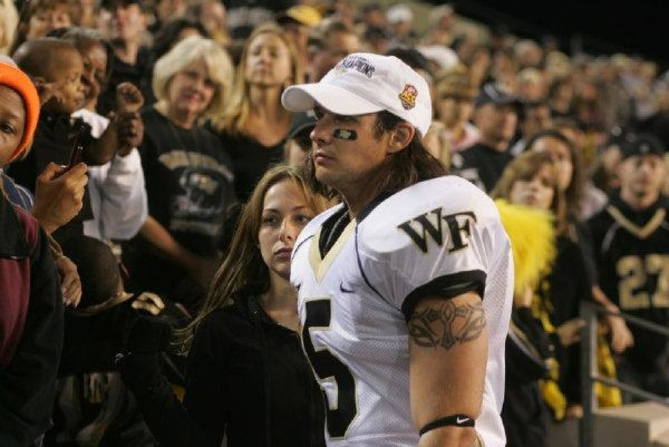Photo - choctaw native Ryan Merriman stars as Jon Abbate, a Wake Forest University football player, in the fact-based inspirational sports drama