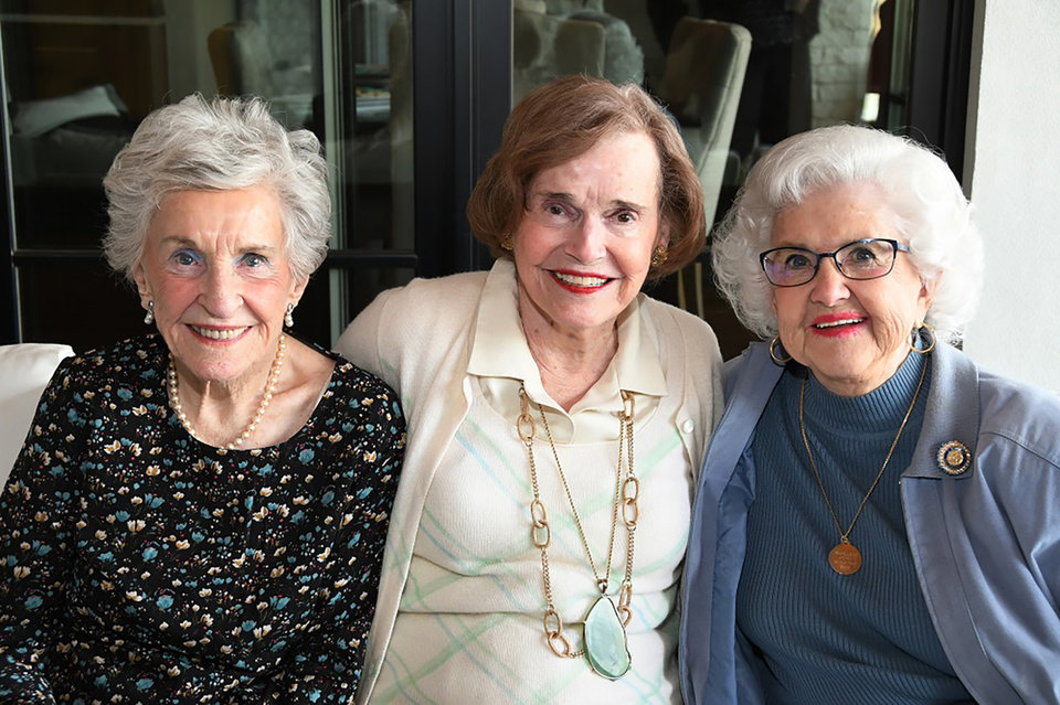 Photo -  Mary Sue Hill, Roseann Herndon, Lu Garrison. PHOTO BY FRAN KOZAKOWSKI