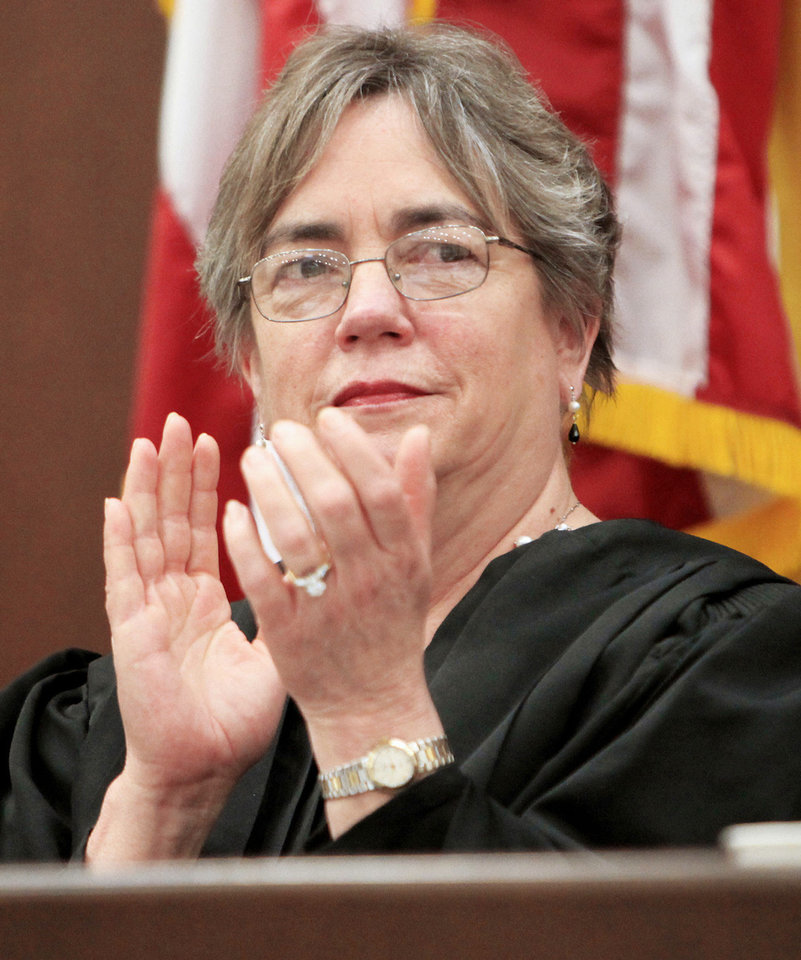 Photo - U.S. District Judge Robin Cauthron is shown last year. Photo by  Paul B. Southerland,  The Oklahoman Archives