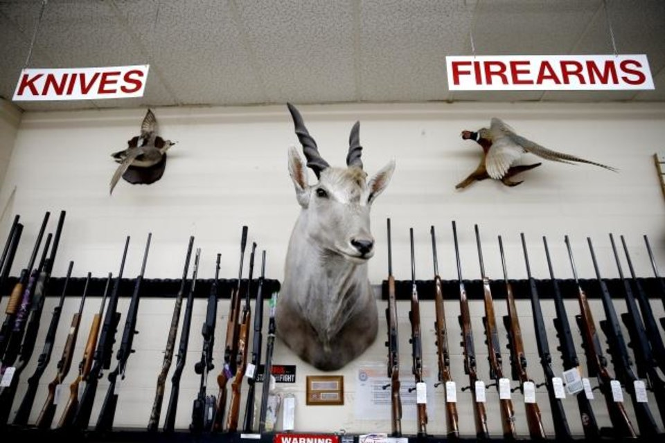 Photo -  Items inside Dean's Drive-Thru Pawn Shop in south Oklahoma City. [Bryan Terry/The Oklahoman]