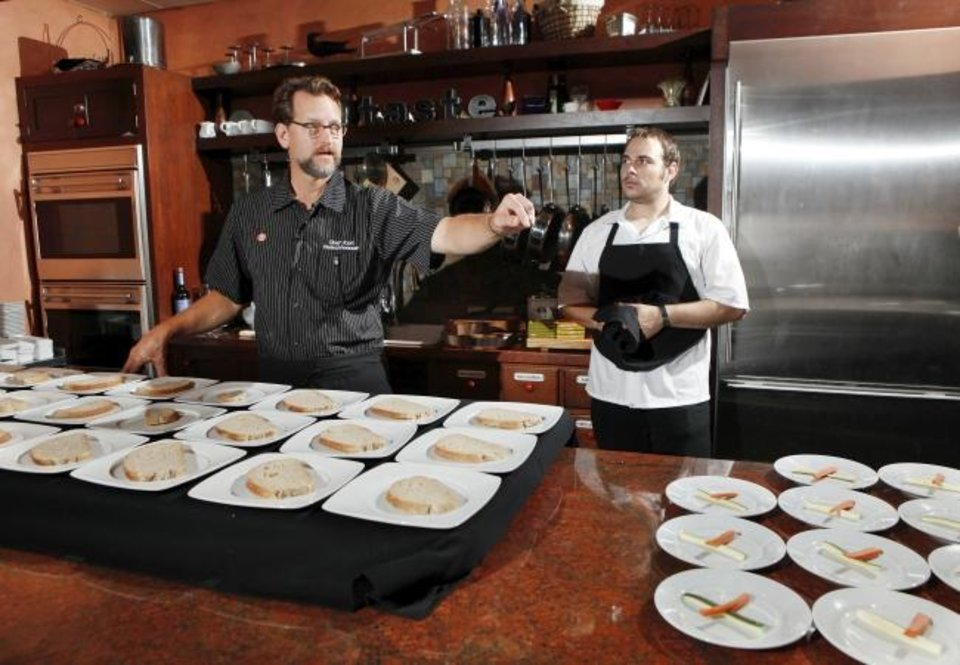 Photo -  Chefs Kurt Fleischfresser and David Henry before the 2012