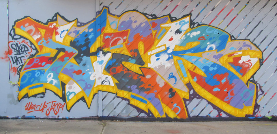 Photo -  An excerpt from a mural by Tulsa graffiti artist Chris SKER. [PHOTO PROVIDED BY CHRIS SKER]