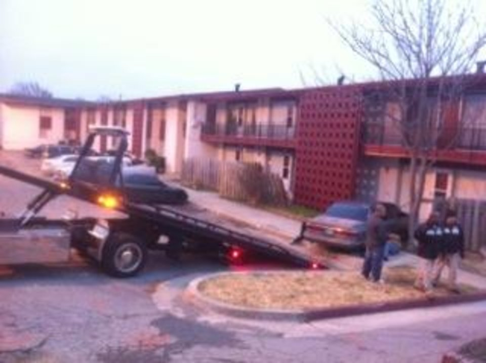 how to get a car towed from apartment