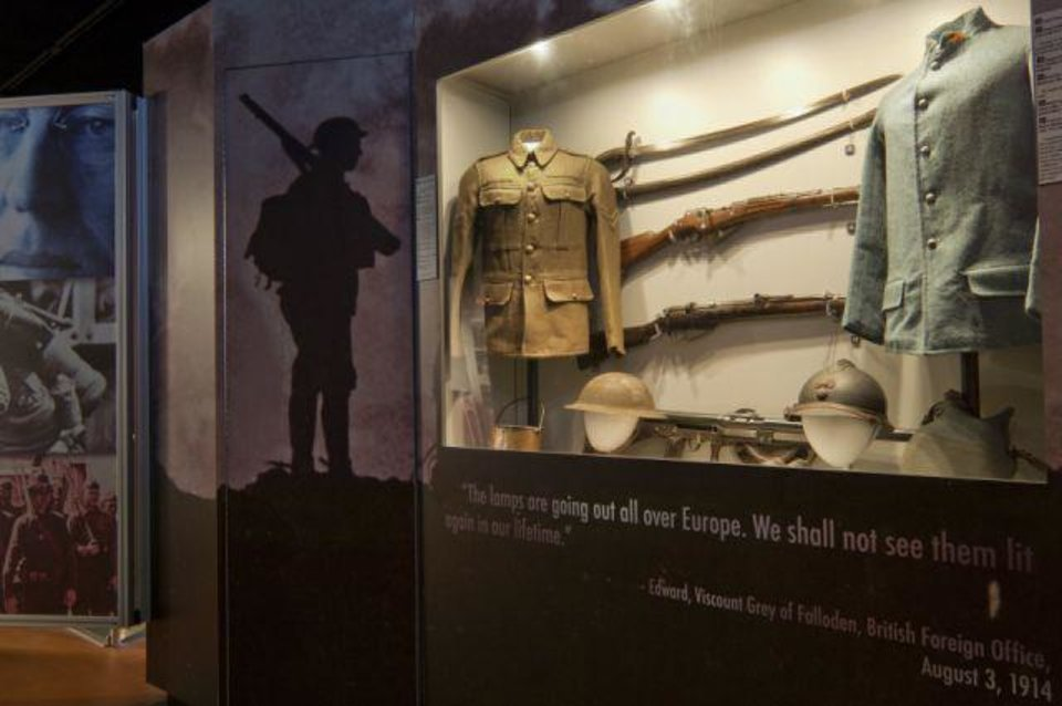 Photo - World War I artifacts on exhibit at the