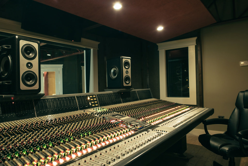 Photo -  Located upstairs inside Castle Row Studios is Studio B. This space is a revitalization of what is formerly known as Woodside Studios. The former studio was converted to include a slightly larger control room and a larger tracking room. [Photo provided]