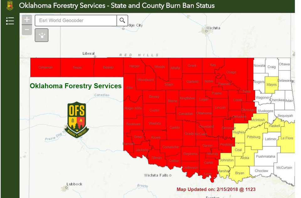 Governor\'s order puts more than half of Oklahoma under burn ban