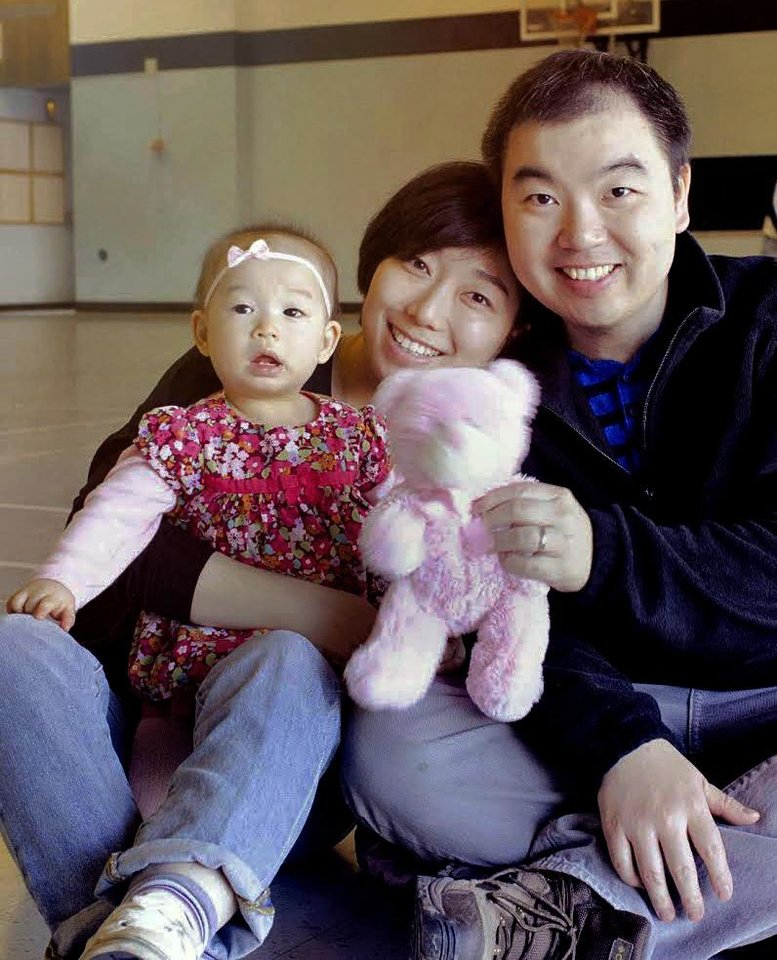 Photo -  Tao Wu with his wife, Jing Fang, and daughter. [Photos provided]