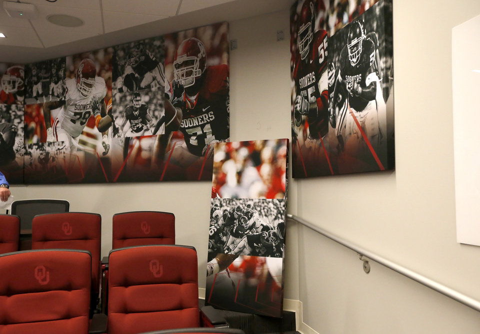 Trend A meeting room is pictured during a tour of the University of Oklahoma football stadium renovations in Norman Okla Sunday Aug