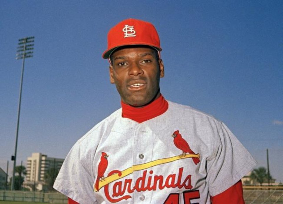 Photo -  Bob Gibson, the dominating pitcher who won a record seven consecutive World Series starts and set a modern standard for excellence when he finished the 1968 season with a 1.12 ERA, died Oct. 2. He was 84. [AP Photo, File]