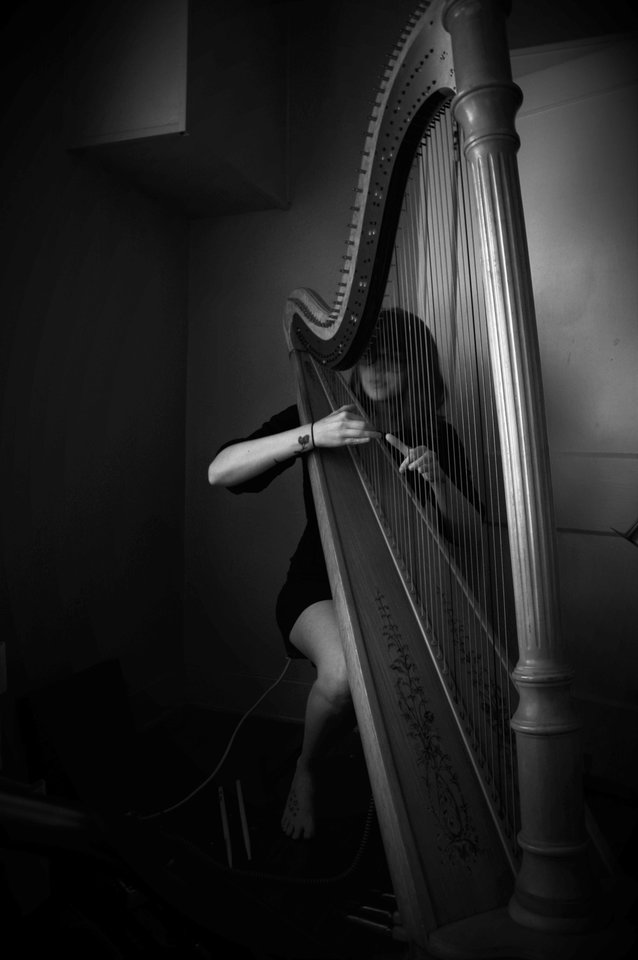 Photo - Moriah Bailey Stephenson's solo project Sun Riah is a harp and looping effort that's deeply personal. Her new record focuses on her relationship with her late grandparents. [Photo provided by Ariel Bridget]