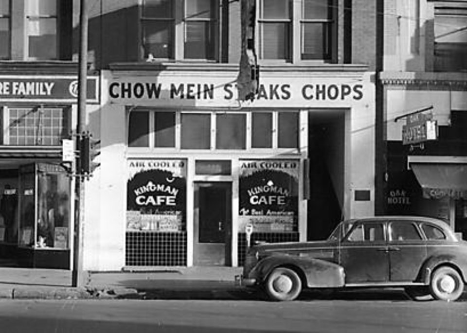 Photo -  Sam Choi's Kingman Cafe served American and Chinese food from 1912 to 1945. [Oklahoma Historical Society]