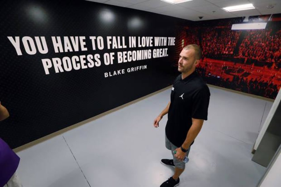 Photo -  The bridge between performance numbers and basketball is built by conversations between the OU coaching staff and Bryce Daub, the basketball director of strength and performance. [OKLAHOMAN ARCHIVES]