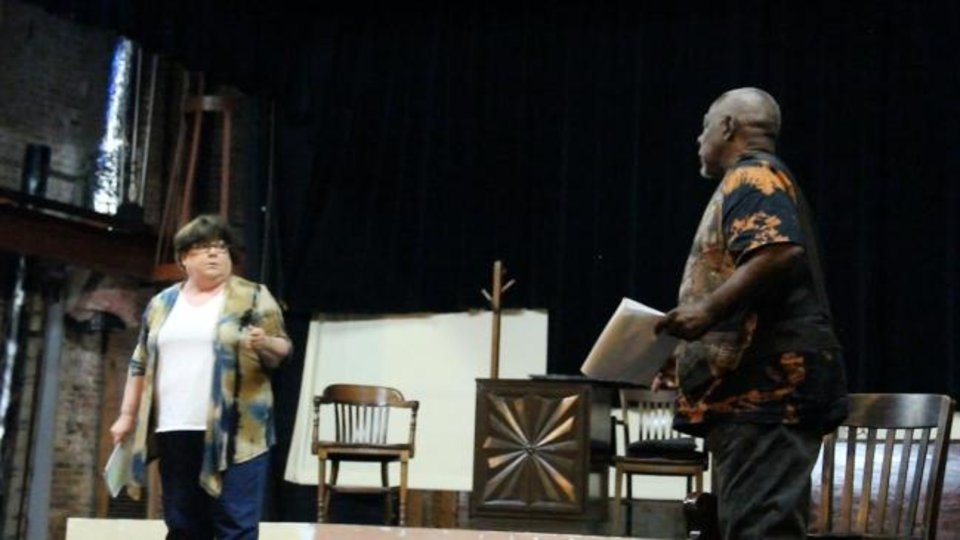Photo -  Brenda Williams and Albert Bostick rehearse the starring roles in