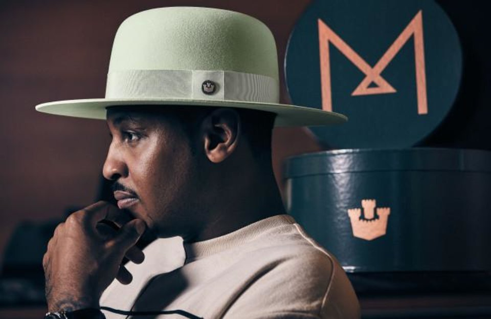 Photo - A look from Carmelo Anthony's new hat collection by Goorin Bros.