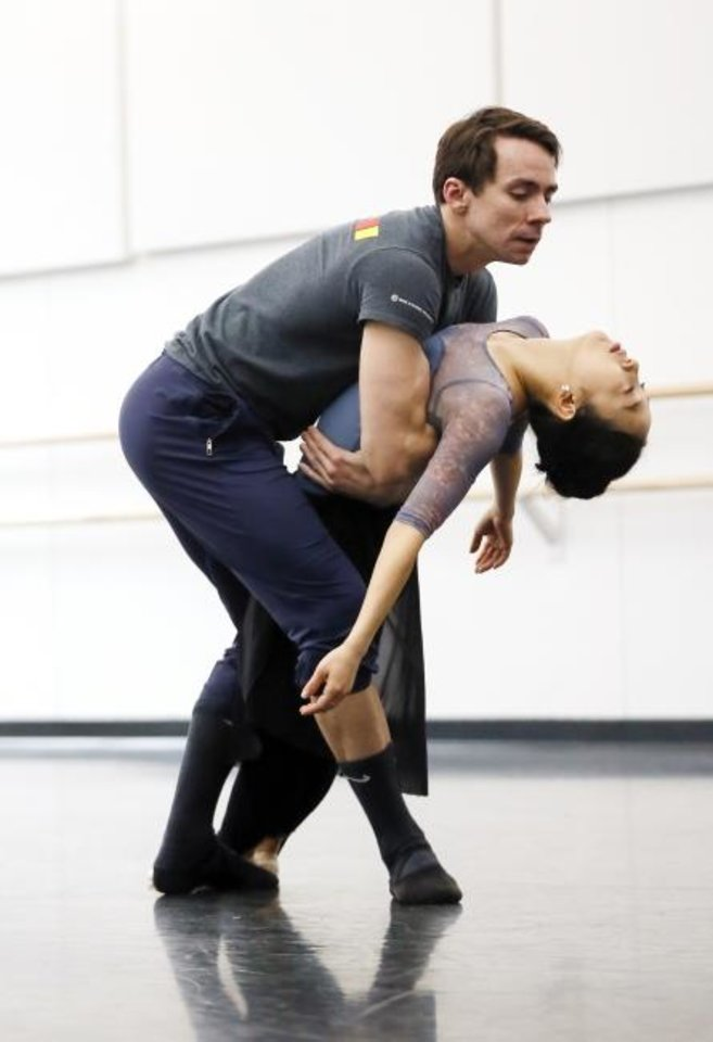 Photo -  Principal dancers Alvin Tovstogray, left, and DaYoung Jung rehearse on Jan. 30  for