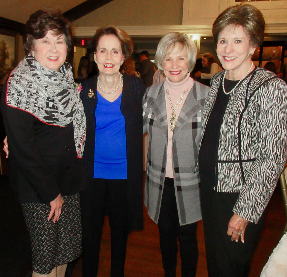 Photo - Kay Oliver, Carol Hall Gann, Sharon Bozalis, Mary Ann Haskins. PHOTO BY HELEN FORD WALLACE, THE OKLAHOMAN