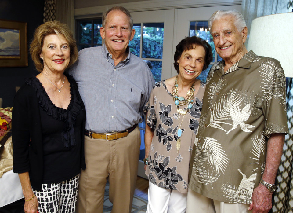 Photo - Connie and Ken Schuermon and Evelyn and Bill Gentry. PHOTO BY STEVE SISNEY, THE OKLAHOMAN