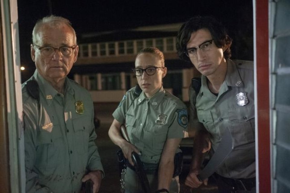 Photo -  This image released by Focus Features shows Bill Murray, from left, Chloe Sevigny and Adam Driver in a scene from