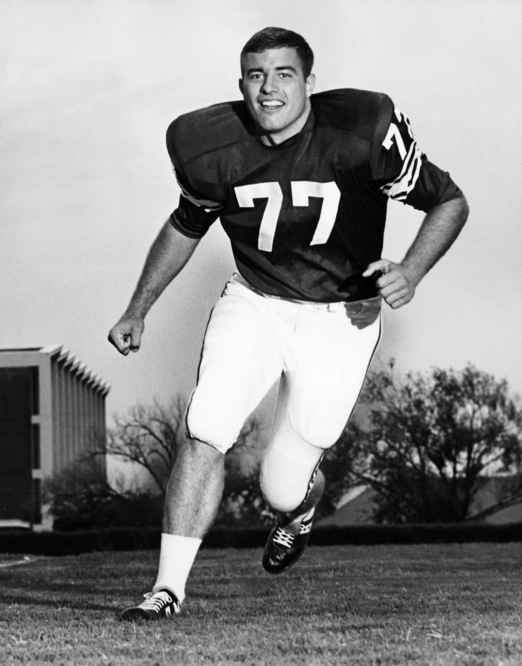 Photo - University of Oklahoma offensive tackle Bob Kalsu in photo taken 8/27/66 by staff photographer Austin Traverse.