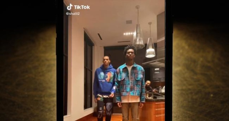 Photo -  With the NBA season suspended due to the coronavirus outbreak, Thunder players Darius Bazley and Shai Gilgeous-Alexander, right, have entertained fans with videos on the TikTok social media platform. [PHOTO ILLUSTRATION VIA AP PHOTO AND TIKTOK SCREENSHOT]