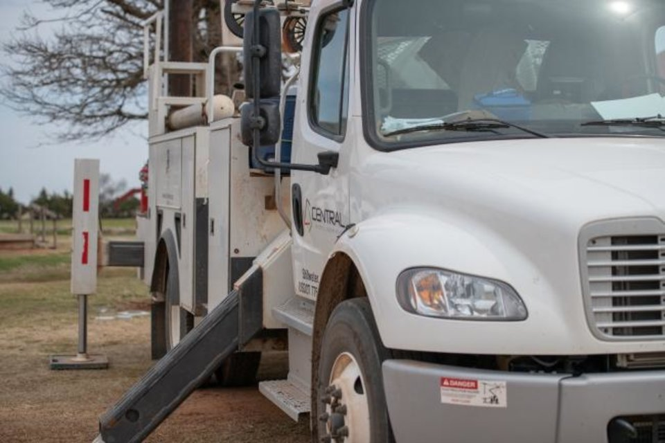Photo -  A Central Electric Cooperative line truck. [PROVIDED BY CENTRAL ELECTRIC COOPERATIVE]