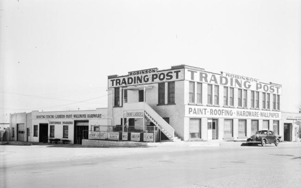 Photo -  Built in the early- to mid-1920s, the Robinson Trading Post opened along what was a bustling stretch of U.S. 77. [OKLAHOMA HISTORICAL SOCIETY]