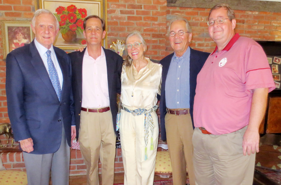 Photo - Ralph Thompson, Kyle Anderson, Judy and David Ragland, Mark Anderson. PHOTO BY HELEN FORD WALLACE