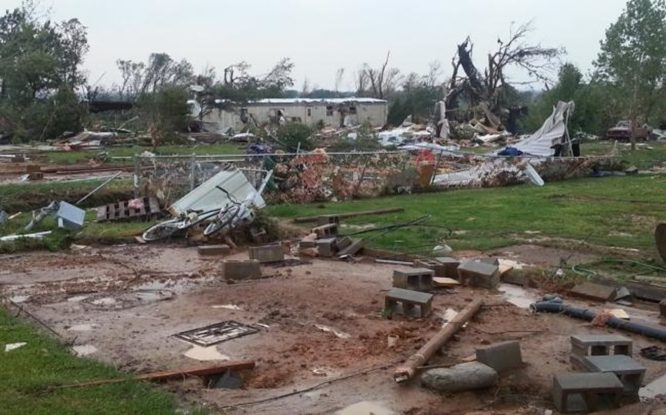 Photo -  The EF5 tornado on May 20, 2013, destroyed Royal Park, a mobile home park in Moore. Six years later, The Curve, Moore's first low-income housing tax credit development, is going in at the site at SW 17 and Janeway Avenue. [CITY OF MOORE]