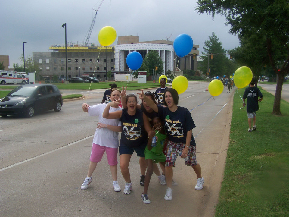 Photo - A group of teens show their enthusiasm at a previous Walk for Recovery. Photo provided.