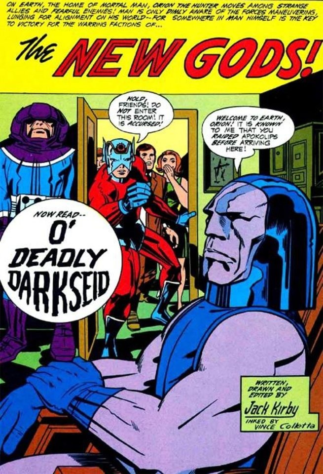 Photo -  Jack Kirby created Darkseid for DC Comics. [DC Comics]
