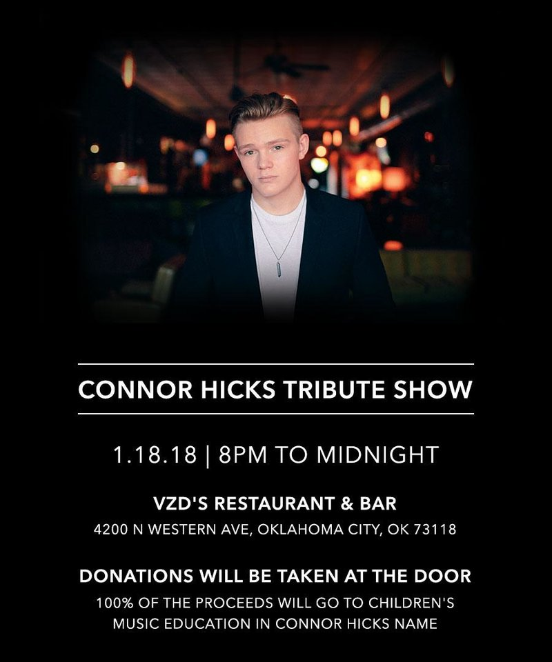Photo - Connor Hicks tribute concert poster. [Image provided]