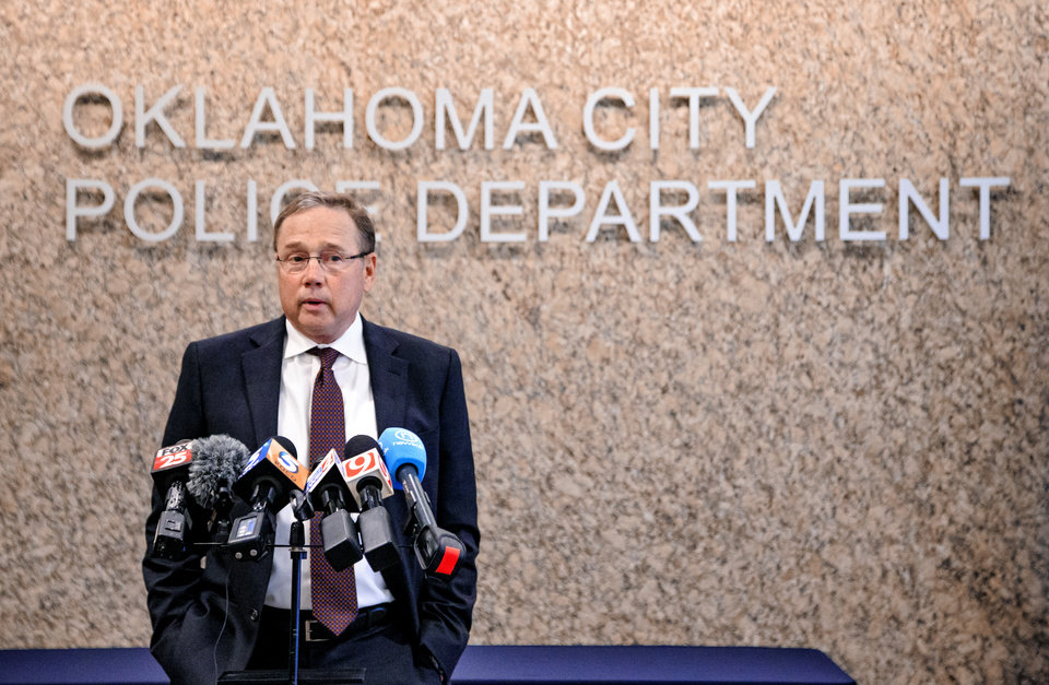 Photo -  Oklahoma City police Chief Bill Citty is retiring May 2. He was praised Thursday for his commitment to building strong bonds between the Police Department and minority communities throughout the city. [Photo by Chris Landsberger, The Oklahoman]