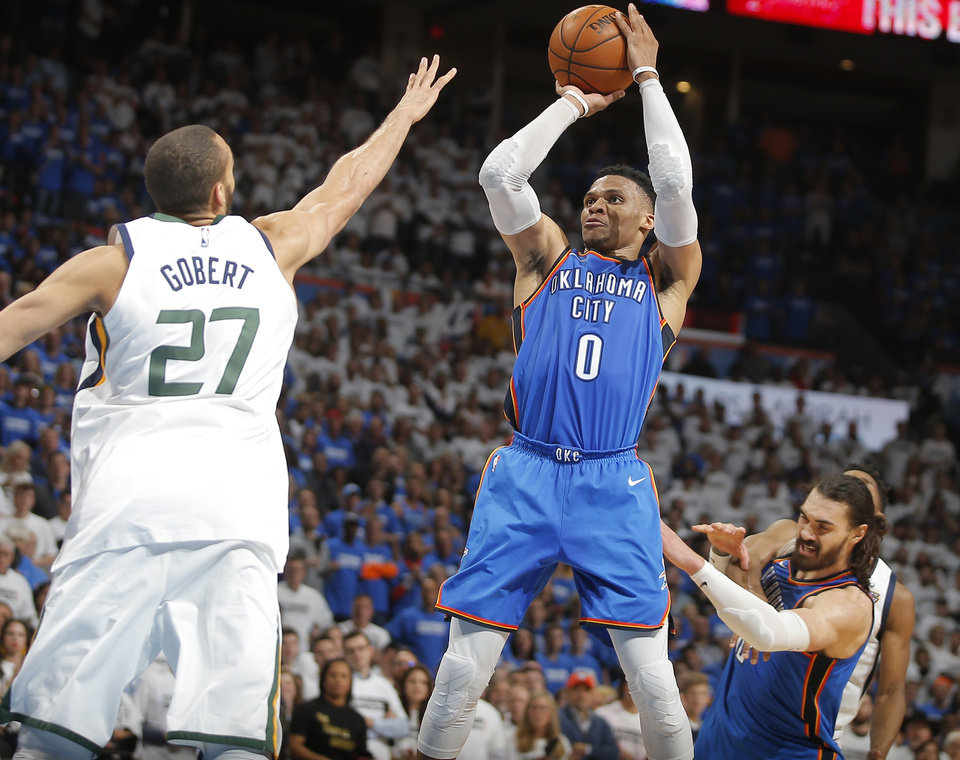 Photo -  Thunder guard Russell Westbrook is one of the more fleet-footed players in the NBA. [PHOTO BY BRYAN TERRY, THE OKLAHOMAN]