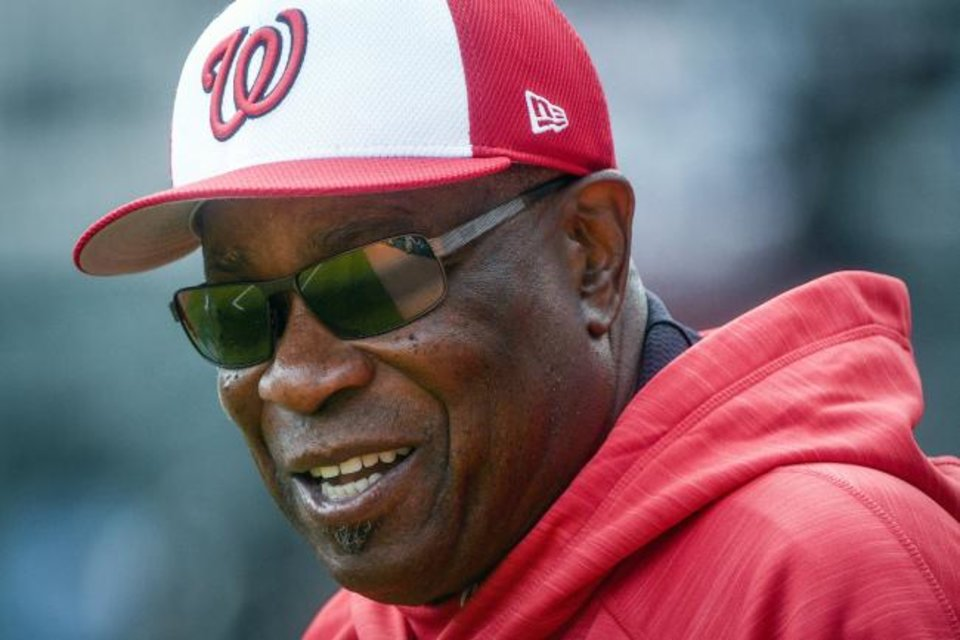 Photo -  Former Washington Nationals manager Dusty Baker will reportedly be the next manager of the Houston Astros. [AP Photo/John Amis]