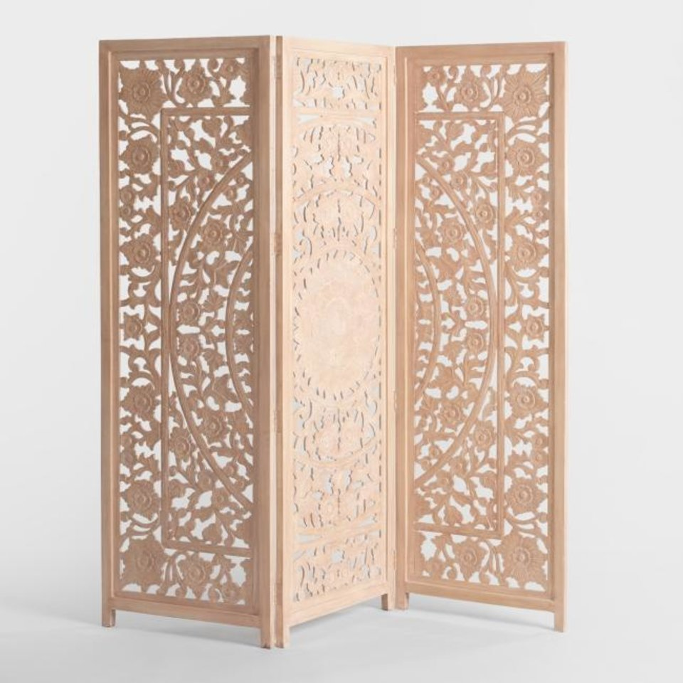 Photo -  World Market's Natural Carved Zaria Screen. [THE WASHINGTON POST/WORLD MARKET]