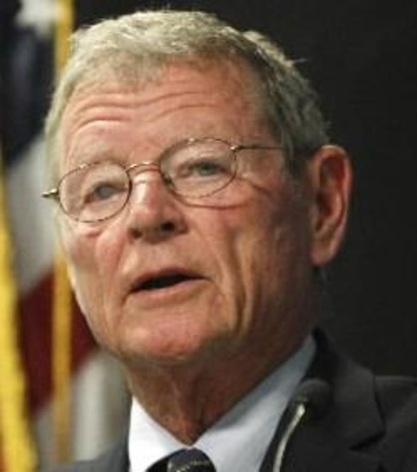 "Photo -  Sen. Jim Inhofe said in the hearing he had received anonymous allegations Carson had created a ""hostile work environment."""