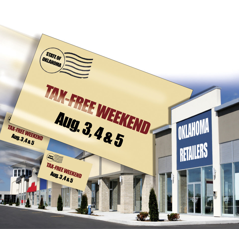 Photo - TAX-FREE WEEKEND Aug. 3, 4 & 5 SHOP / SHOPPING / SALES TAX HOLIDAY / GRAPHIC ILLUSTRATION BY TODD PENDLETON, THE OKLAHOMAN GRAPHICS