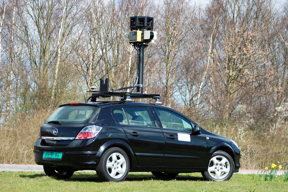 Photo - An undated photo made available by Google in April shows one of its street mapping cars. AP PHOTO