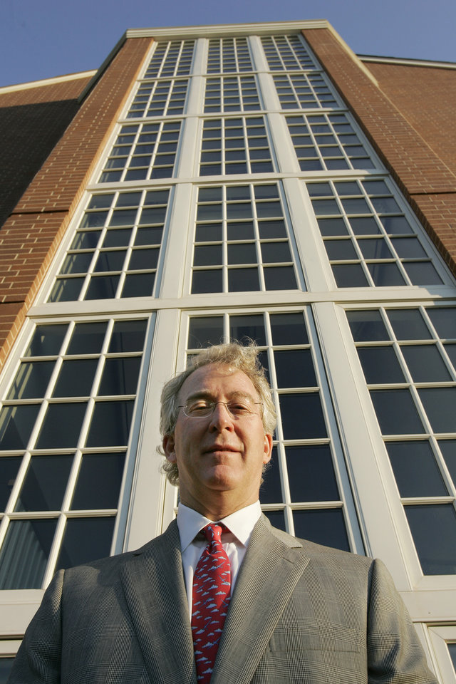 Photo - AUBREY MCCLENDON / CEO / CHESAPEAKE ENERGY: 10/17/05 Chesapeake Energy Corp. CEO Aubrey McClendon stands on the company's Oklahoma City campus, for Oklahoma Inc. Doug Hoke /The Oklahoman.