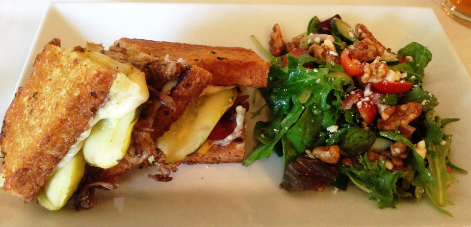 Photo -  The Cubano Sandwich with Chopped Salad from Venue 104 Bistro.