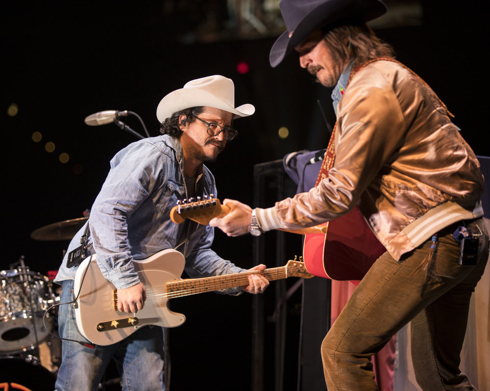 Photo - Midland performing live as an opening act for Little Big Town on Feb. 8 at the Chesapeake Energy Arena. [Photo by Nathan Poppe, The Oklahoman]