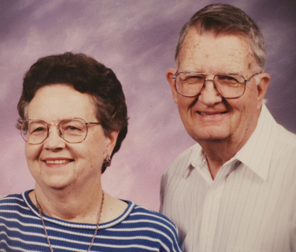 Photo -   65 years:  Carolyn and Ted Thompson, of Norman, were married Sept. 18, 1953, in Noble.