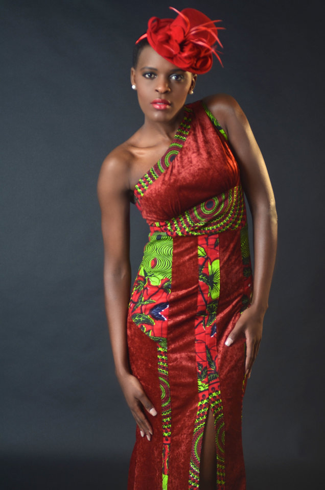 Photo - This is a dress designed by Amani K. Creations, a fashion house based in Kigali, Rwanda. The owner, Amani Kalisa, is participating in Peace Through Business, a program that brings Afghan and Rwandan women to America to learn business techniques to help them succeed in their businesses. Photo provided.
