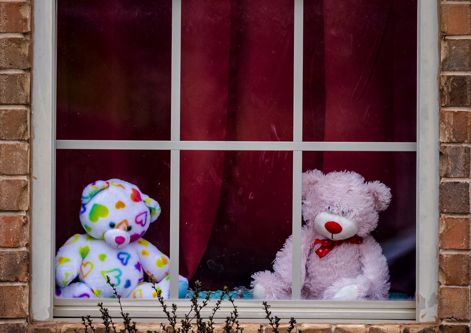 Stuffed toy scavenger hunts entertain kids stuck at home - Photo ...