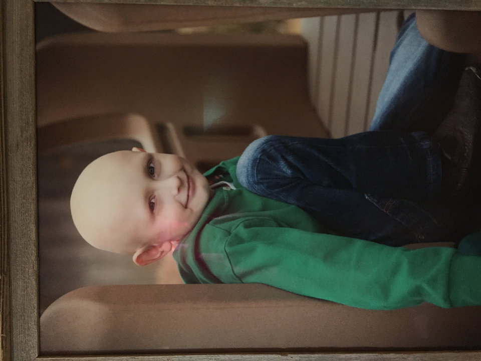 Photo -  This portrait of Charlie James Keith was taken at Easter this year. Charlie had neuroblastoma, a form of childhood cancer, and died Sept. 7 from complications from chemotherapy. [Photo provided]